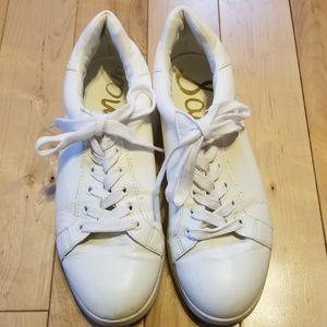 Sam Edelman Connor white sneakers lace up 8.5